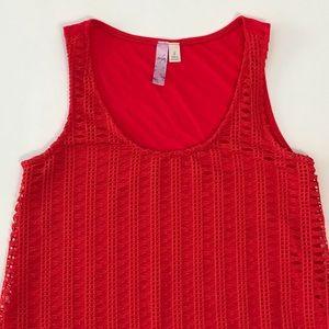 🆕 Francesca's | Alya Crochet Hi-Lo Tank